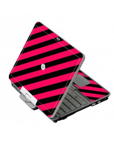 Pink Black Stripes HP 2760P Laptop Skin
