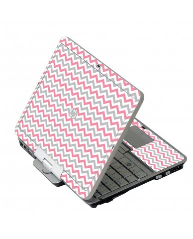 Pink Grey Chevron Waves HP 2760P Laptop Skin