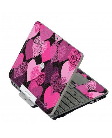 Pink Mosaic Hearts HP 2760P Laptop Skin