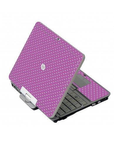 Purple Polka Dot HP 2760P Laptop Skin