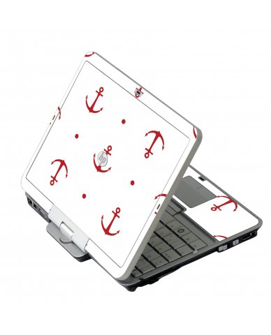 Red Anchors HP 2760P Laptop Skin