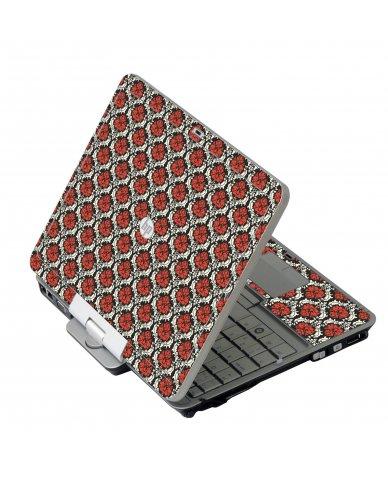 Red Black 5 HP 2760P Laptop Skin