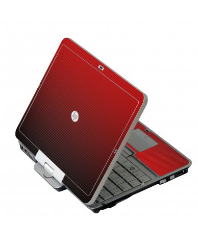 Red Carbon Fiber HP 2760P Laptop Skin