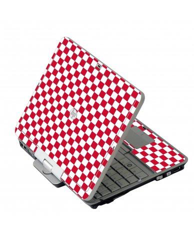 Red Checkered HP 2760P Laptop Skin