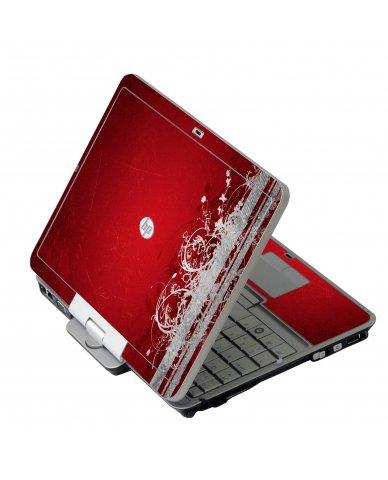 Red Grunge HP 2760P Laptop Skin