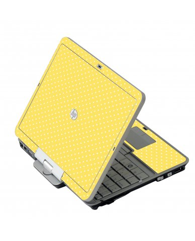 Yellow Polka Dot HP 2760P Laptop Skin