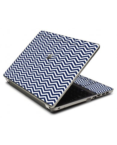 Blue Wavy Chevron 4535S Laptop Skin