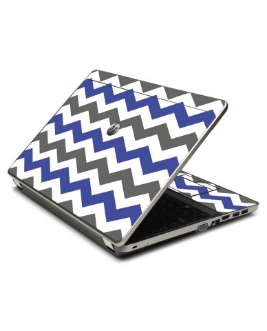 Grey Blue Chevron 4535S Laptop Skin