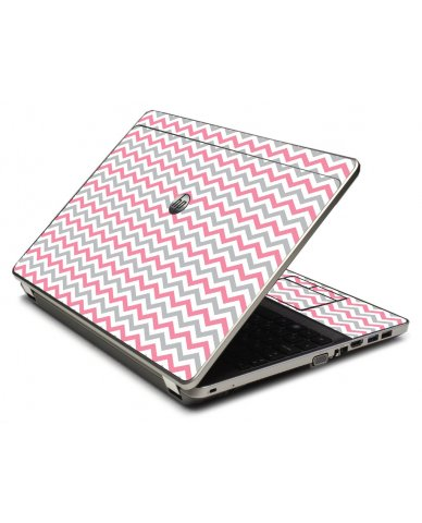 Pink Grey Chevron Waves 4535S Laptop Skin