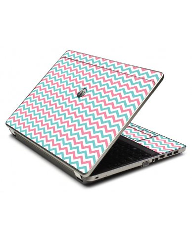 Pink Teal Chevron Waves 4535S Laptop Skin