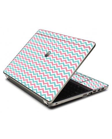 Pink Teal Chevron Waves 4535S Laptop Skin