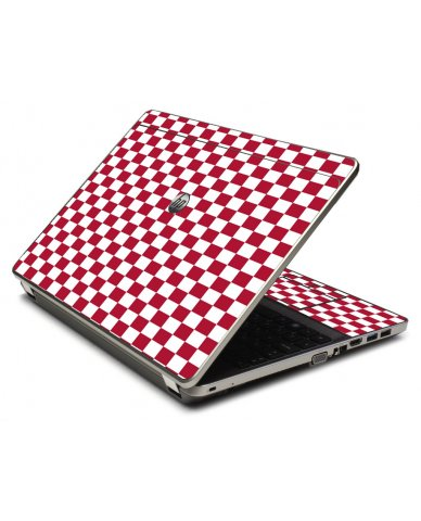 Red Checkered 4535S Laptop Skin