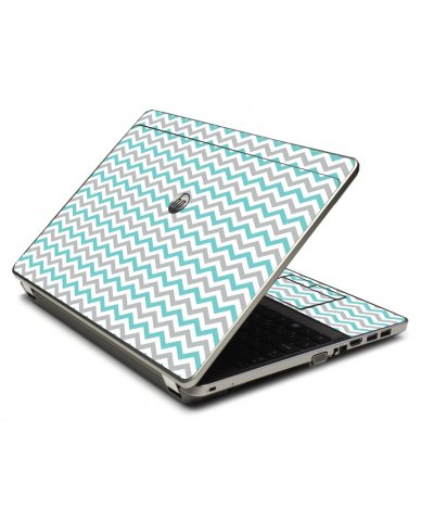 Teal Grey Chevron Waves 4535S Laptop Skin