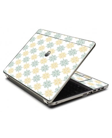 Yellow Green Flowers 4535S Laptop Skin