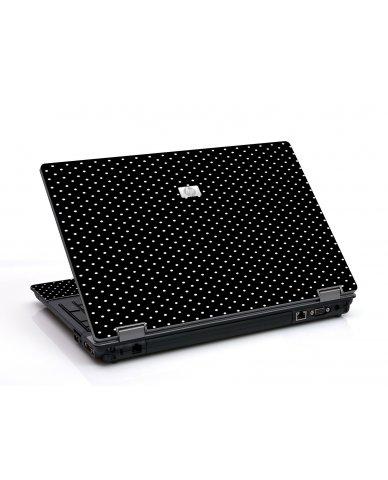 Black Polka Dots 6530B Laptop Skin