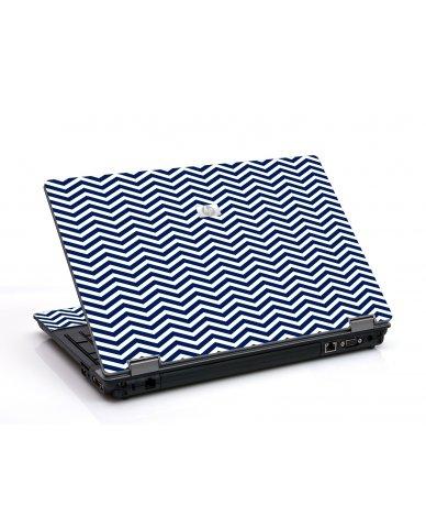 Blue Wavy Chevron 6530B Laptop Skin