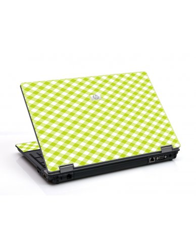 Green Checkered 6530B Laptop Skin