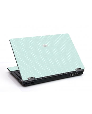 Light Blue Polka 6530B Laptop Skin