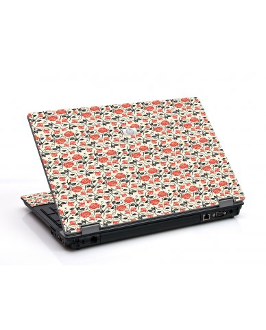 Pink Black Roses 6530B Laptop Skin