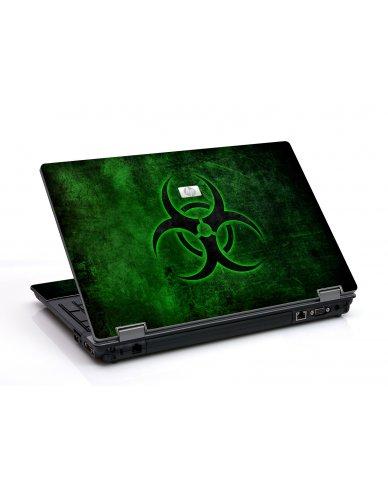 Green Biohazard 6550B Laptop Skin