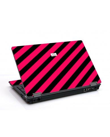 Pink Black Stripes 6550B Laptop Skin