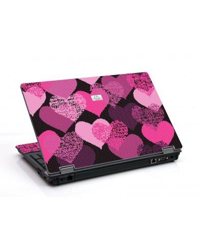 Pink Mosaic Hearts 6550B Laptop Skin