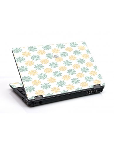 Yellow Green Flowers 6550B Laptop Skin