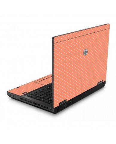 Coral Polka Dots 6560B Laptop Skin