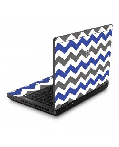 Grey Blue Chevron 6560B Laptop Skin