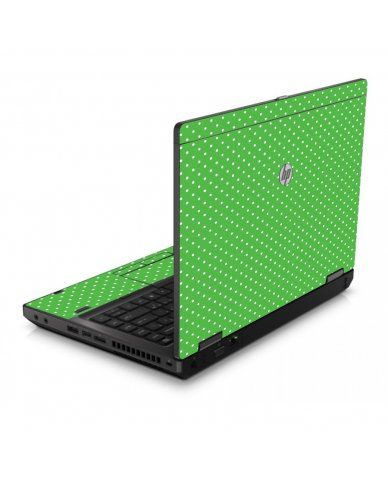 Kelly Green Polka 6560B Laptop Skin