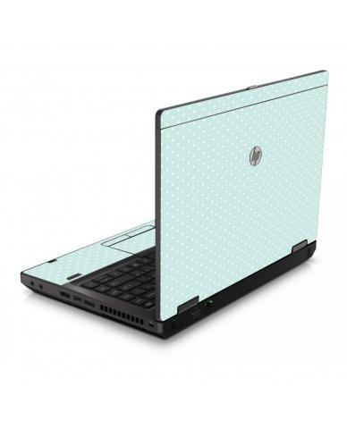 Light Blue Polka 6560B Laptop Skin
