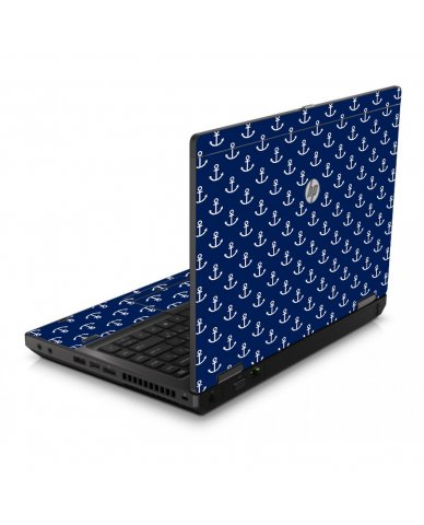 Navy White Anchors 6560B Laptop Skin