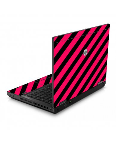 Pink Black Stripes 6560B Laptop Skin