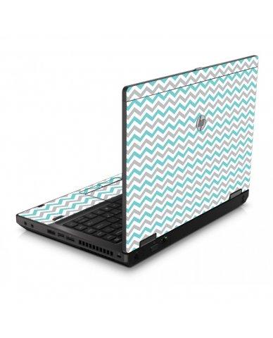 Teal Grey Chevron Waves 6560B Laptop Skin
