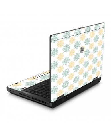Yellow Green Flowers 6560B Laptop Skin