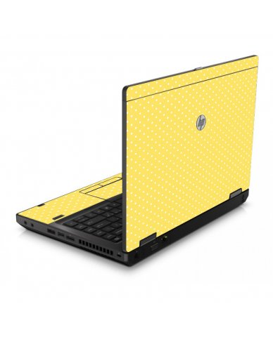 Yellow Polka Dot 6560B Laptop Skin