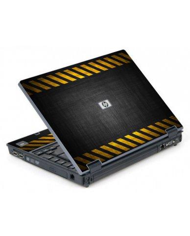 Black Caution Border 6710B Laptop Skin