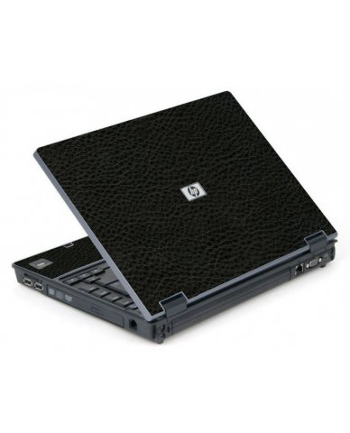 Black Leather 6710B Laptop Skin