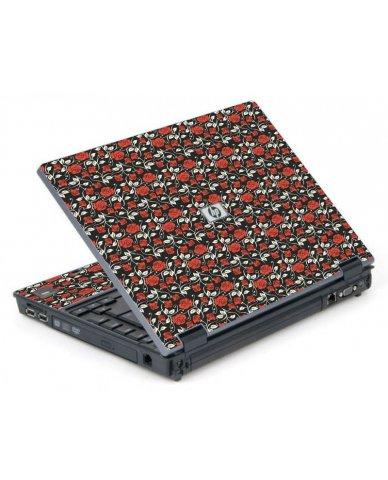 Black Red Roses 6710B Laptop Skin