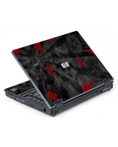 Black Skulls Red 6710B Laptop Skin