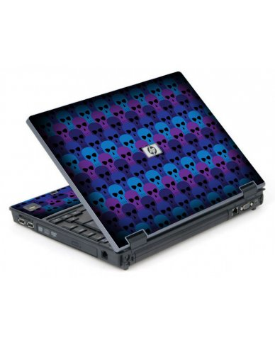 Blue Skulls 6710B Laptop Skin