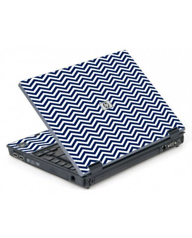 Blue Wavy Chevron 6710B Laptop Skin