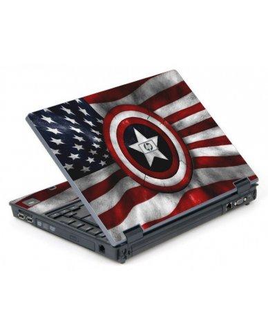 Capt America Flag 6710B Laptop Skin