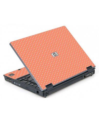 Coral Polka Dots 6710B Laptop Skin
