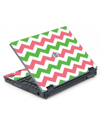 Green Pink Chevron 6710B Laptop Skin