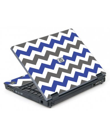Grey Blue Chevron 6710B Laptop Skin
