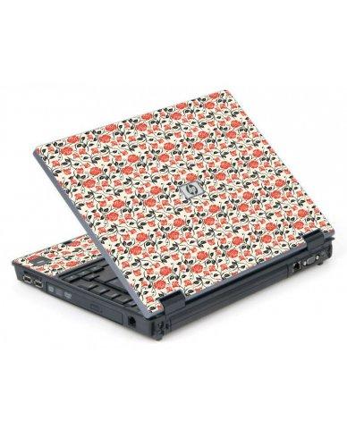 Pink Black Roses 6710B Laptop Skin