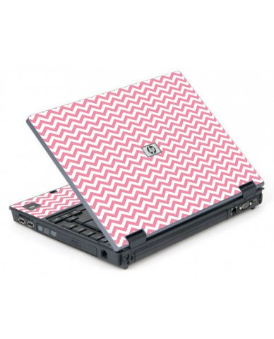 Pink Chevron Waves 6710B Laptop Skin