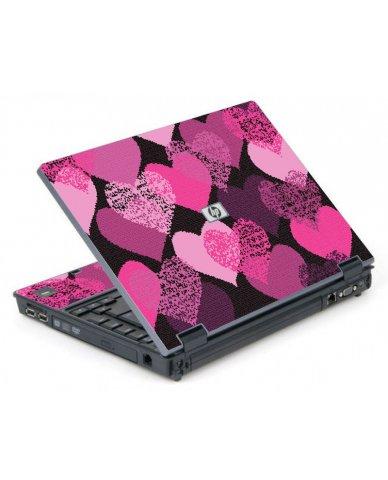 Pink Mosaic Hearts 6710B Laptop Skin