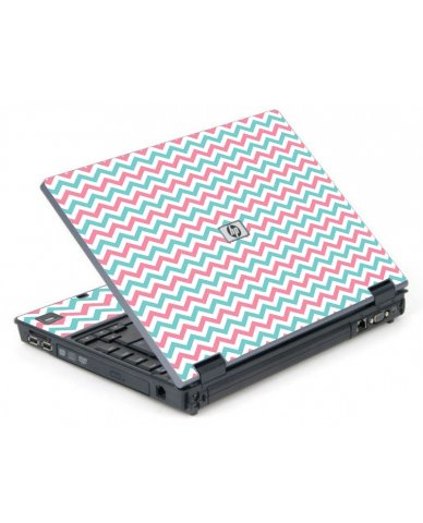 Pink Teal Chevron Waves 6710B Laptop Skin